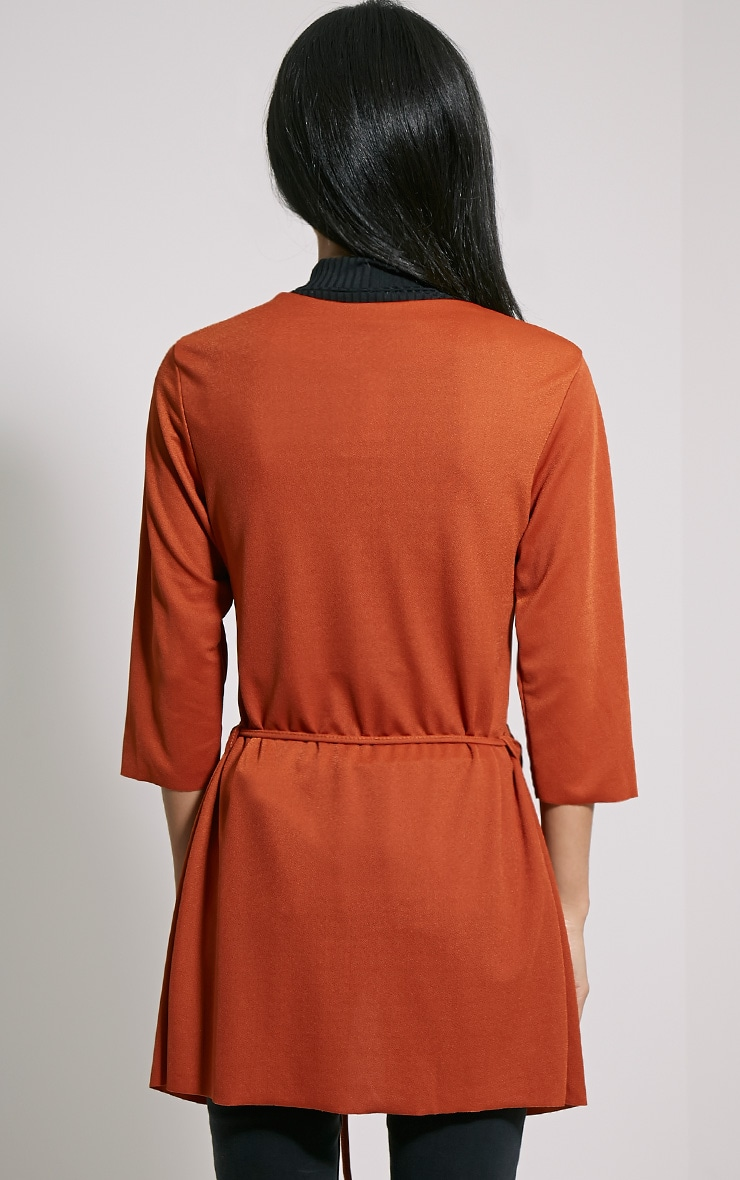 Siran Rust Belted Jacket 2