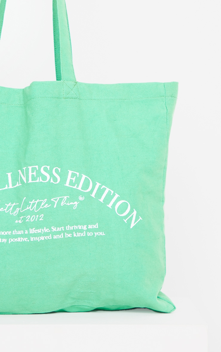 PRETTYLITTLETHING Green Wellness Tote Bag image 3