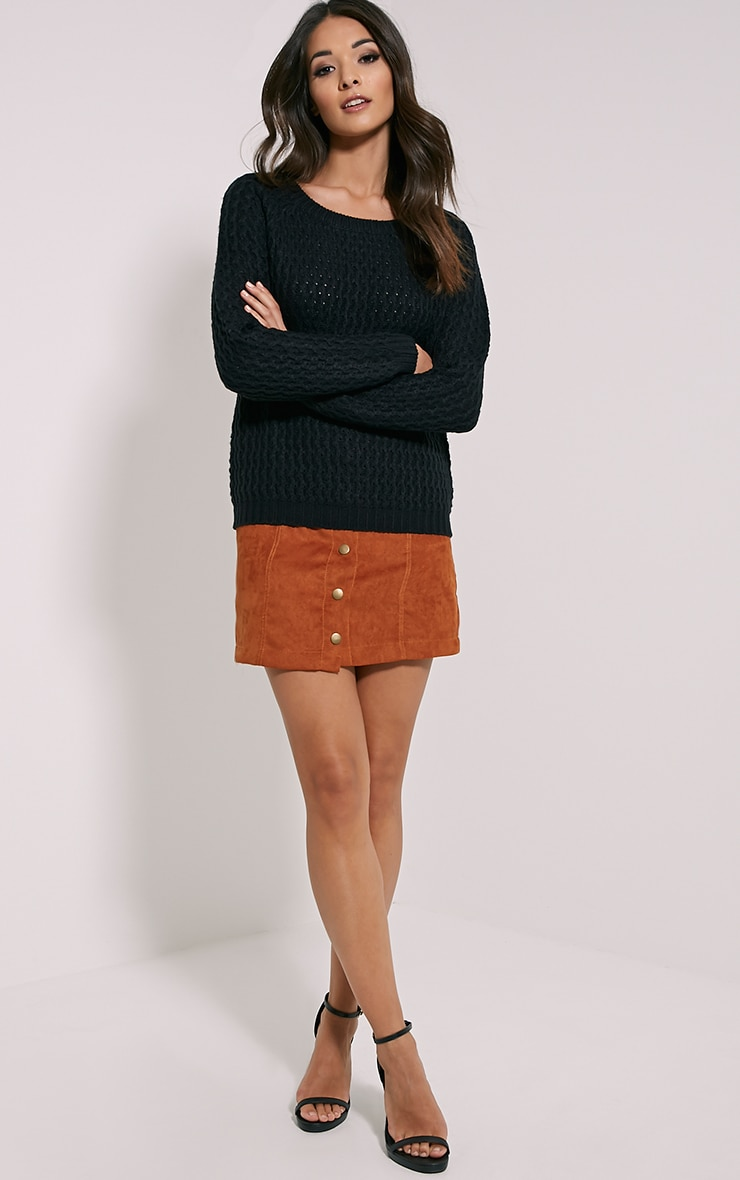 Jaylin Black Cable Knit Jumper 3
