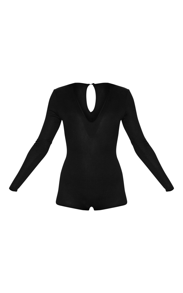 Black Soft Knitted Romper 3