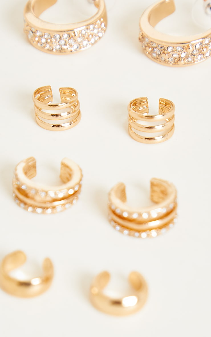 Gold Assorted Ear Cuffs 2