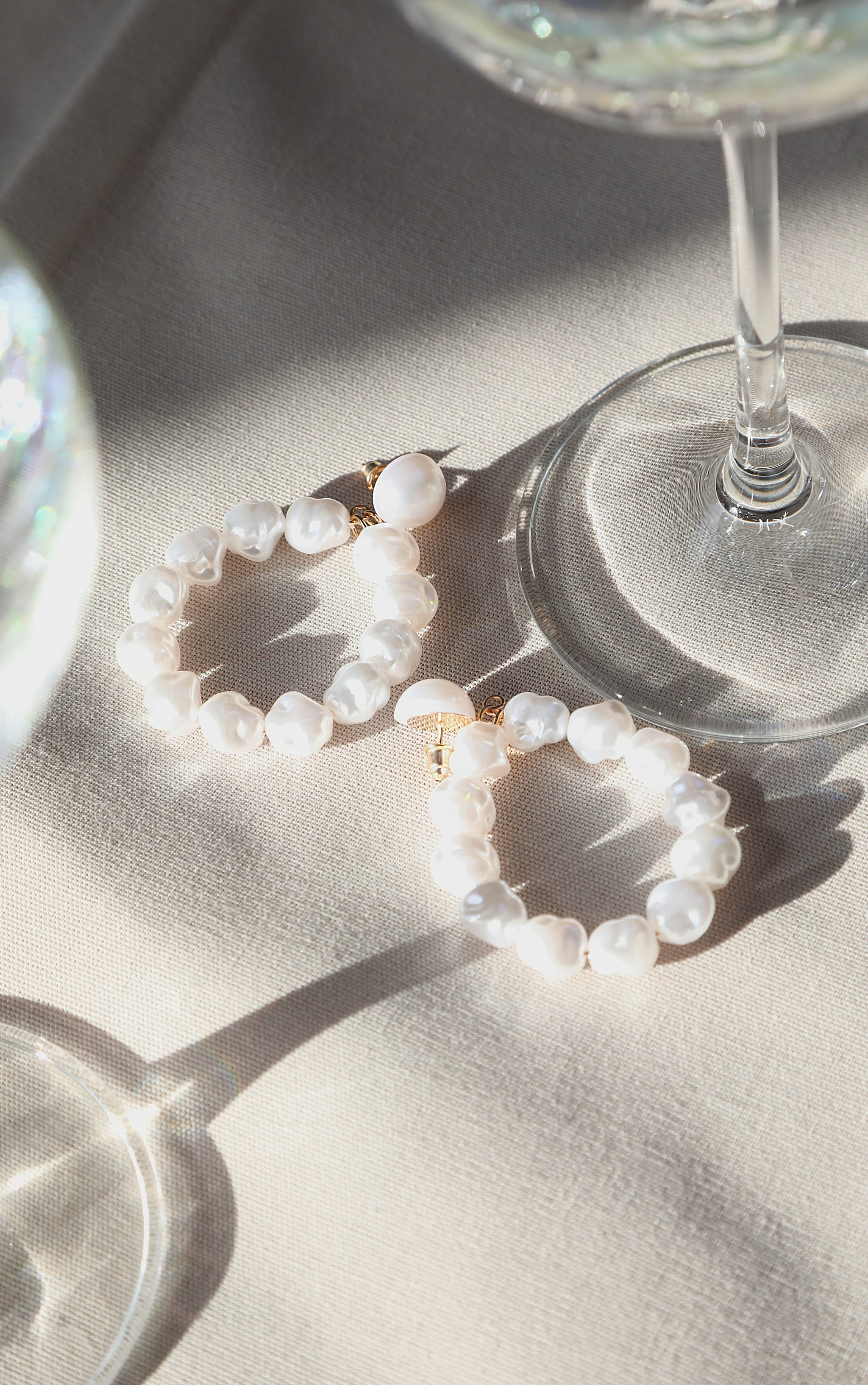 White Pearl Door Knocker Earrings 2