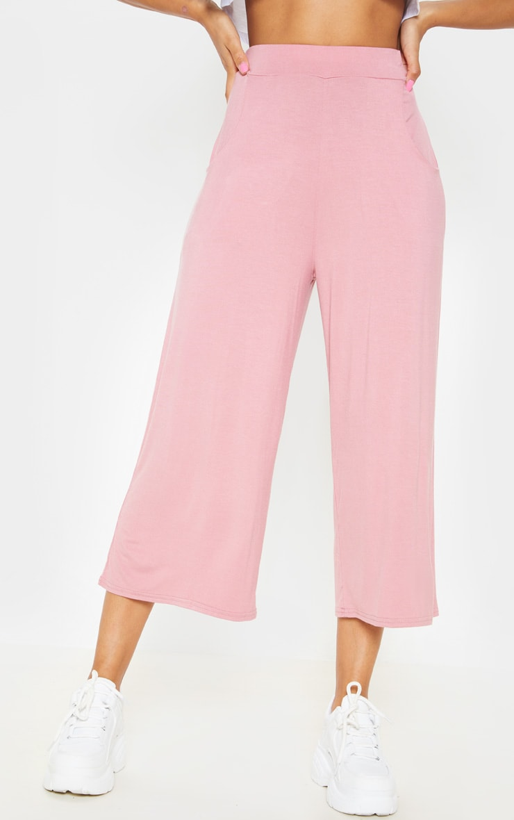 Rose Jersey Pocket Detail Culotte 2