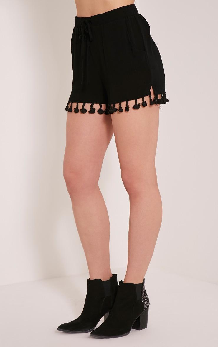 Jamelia Black Tassel Hotpants 4