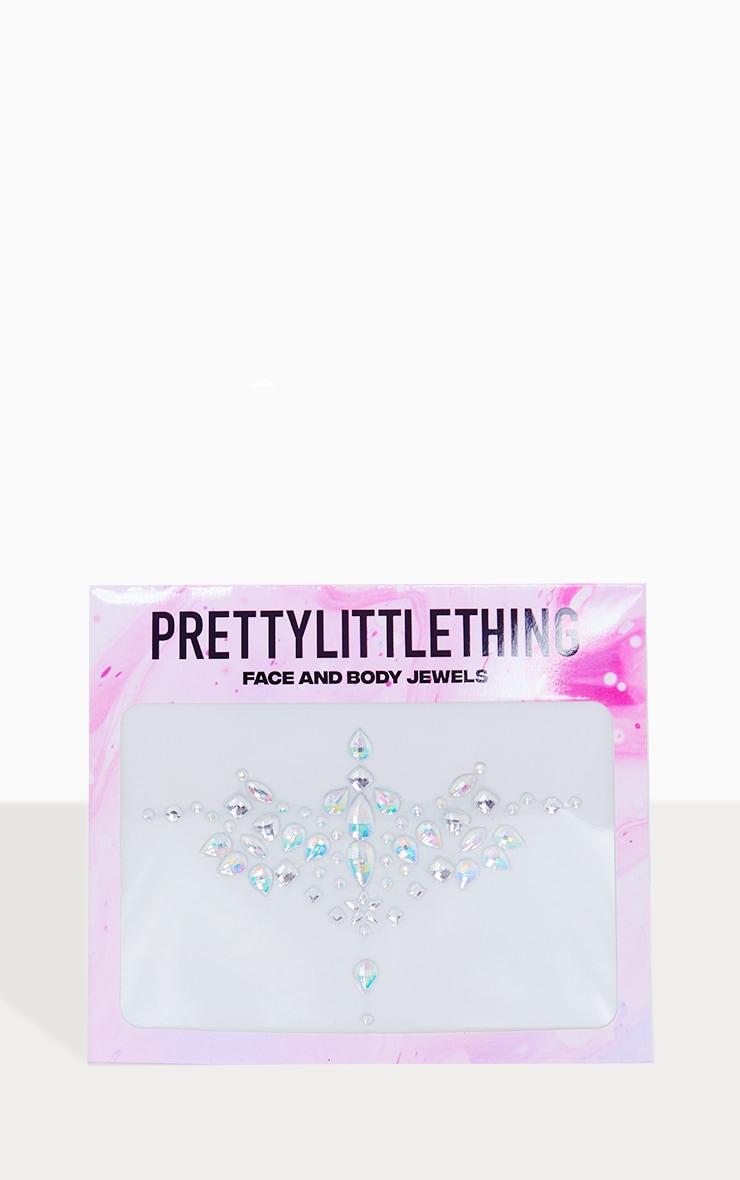 PRETTYLITTLETHING Iridescent Flower Body Jewel 2