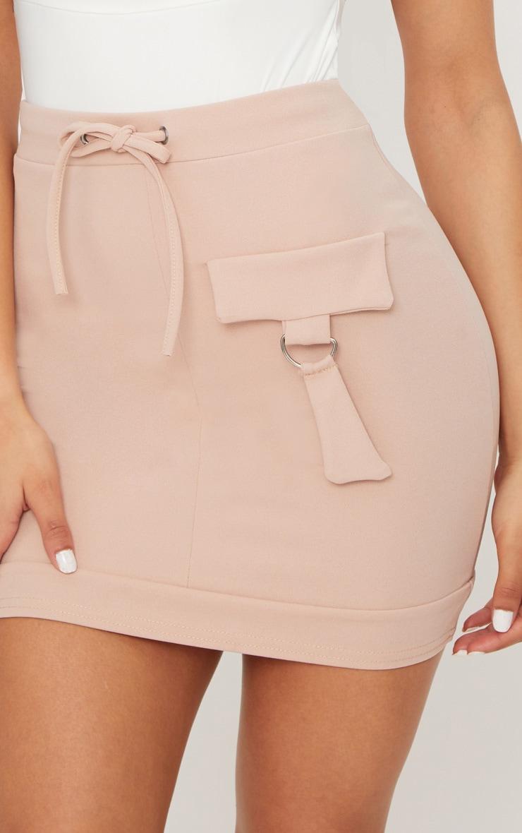 Stone Scuba Military Pocket Detail Skirt 5