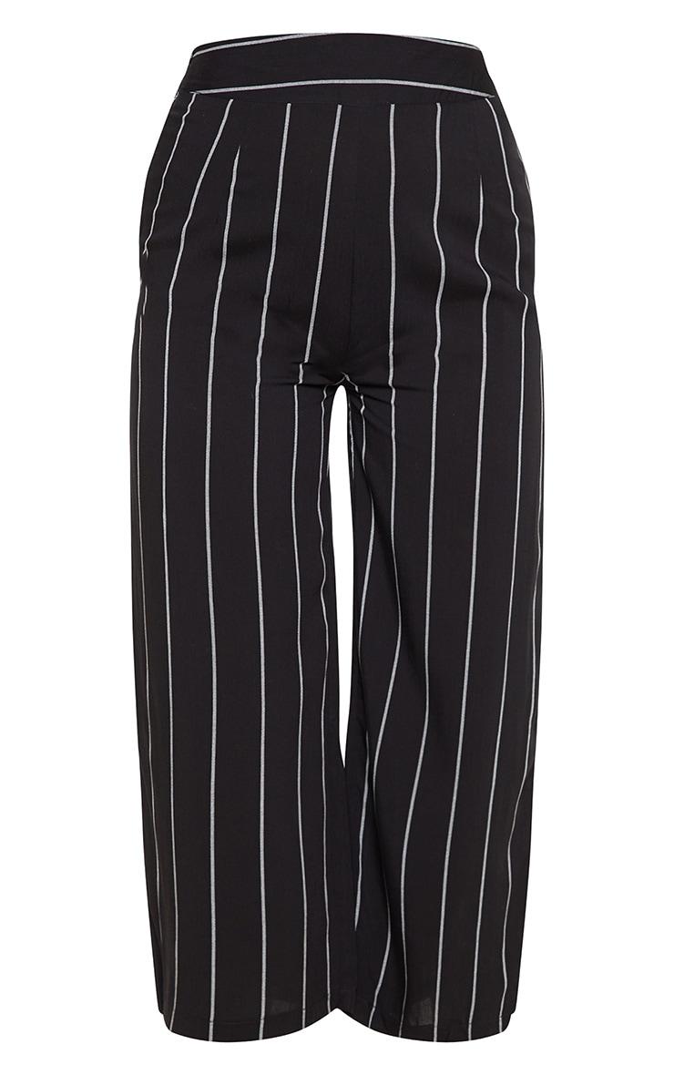Tazmin jupe-culotte noire à rayures 3
