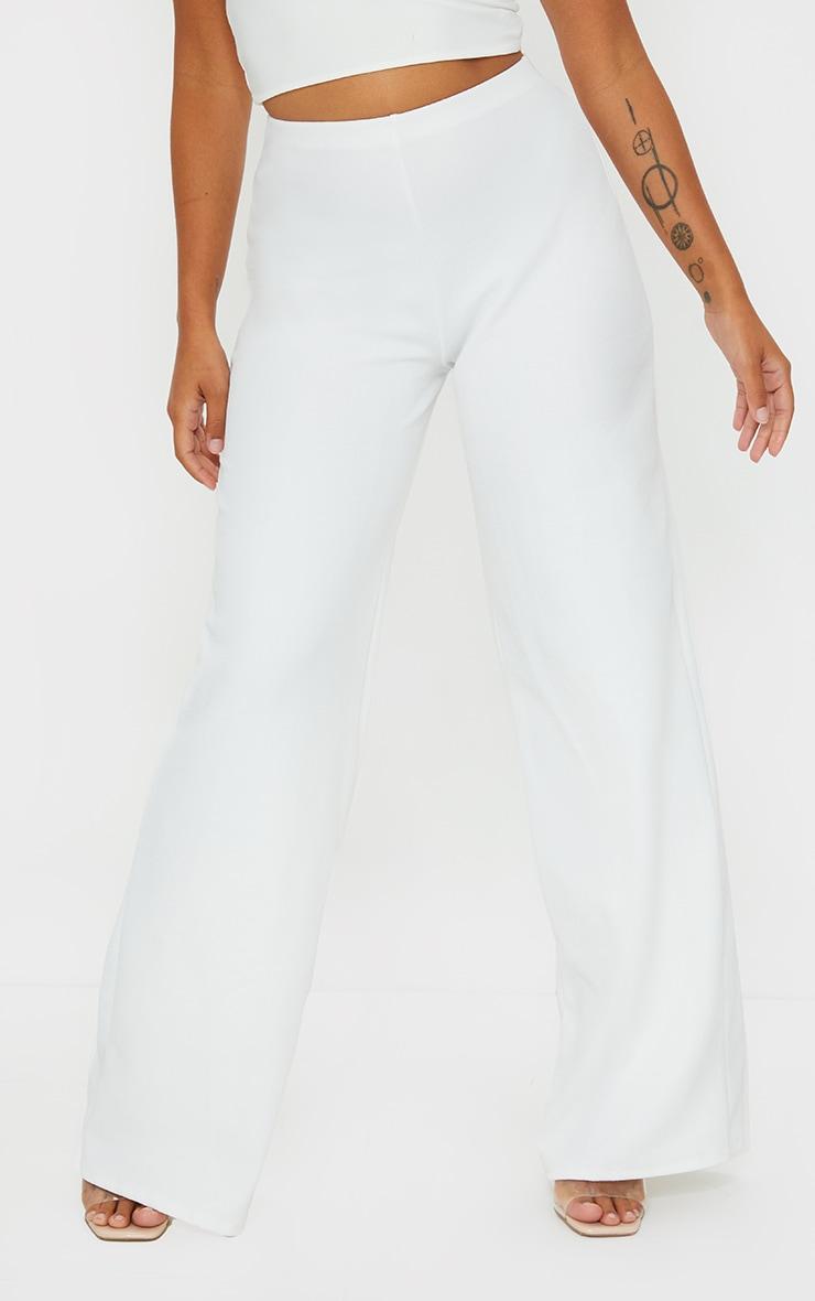Petite White Wide Leg Trousers 2