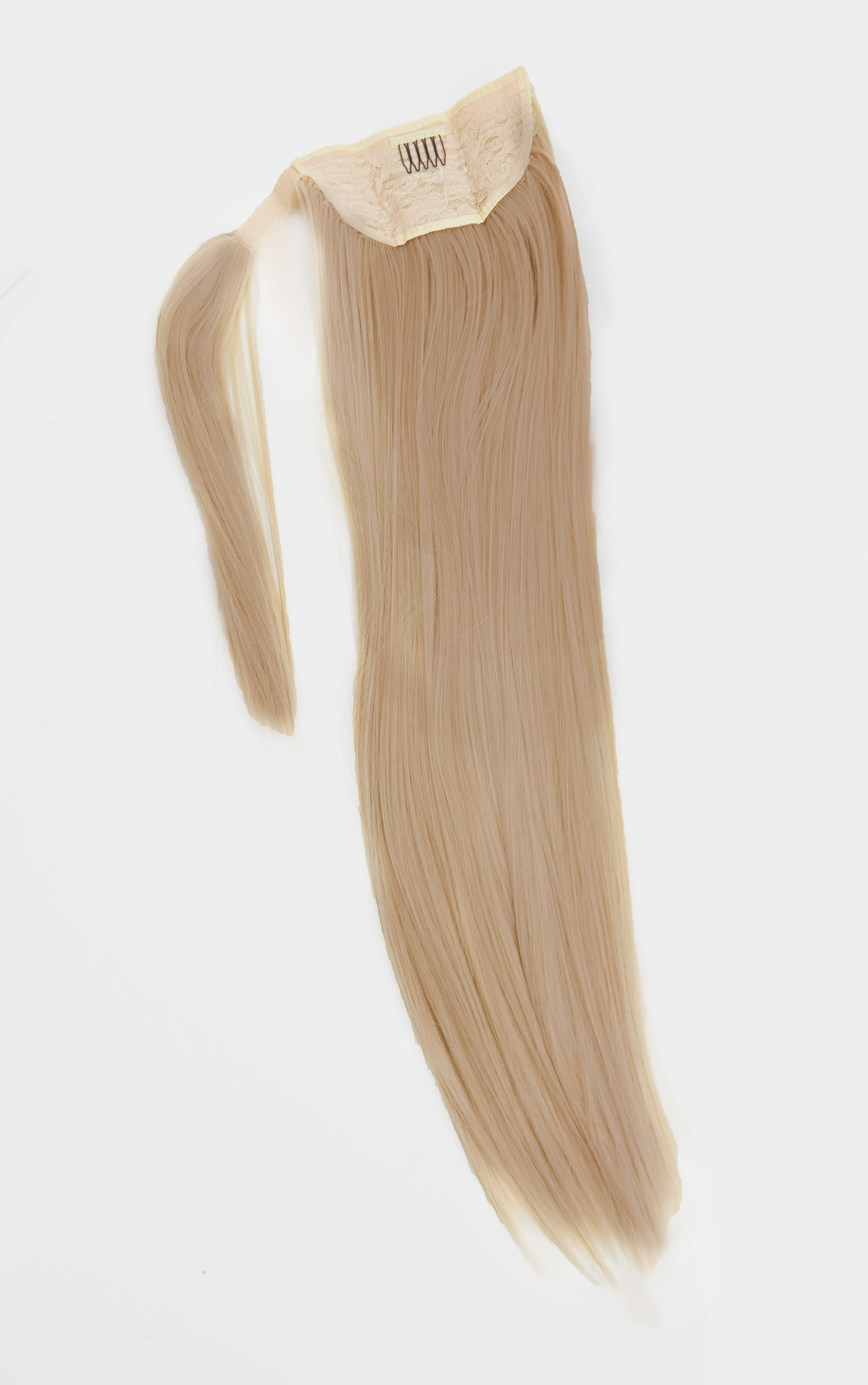 LullaBellz Grande Lengths 26 Straight Pony Extensions California Blonde 5