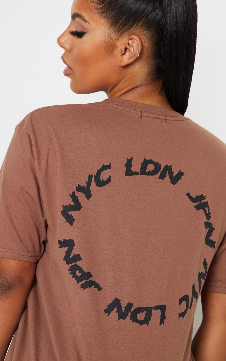 Mocha World Tour State Slogan T Shirt 6