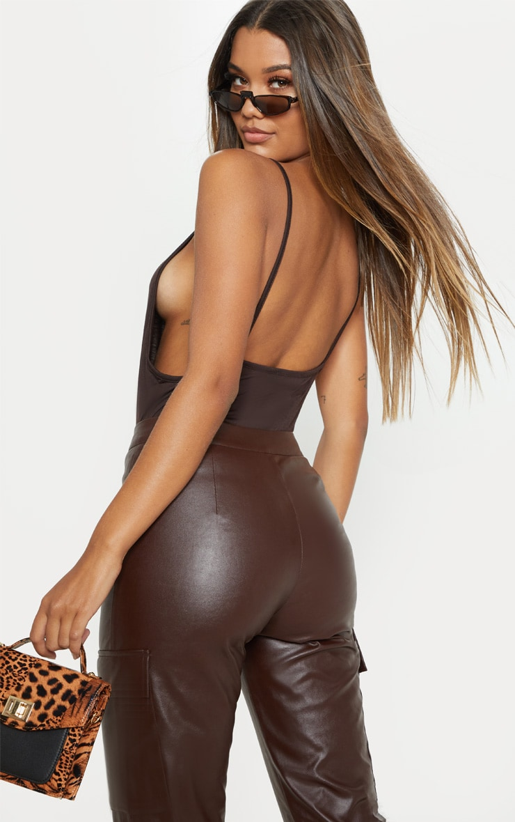 Chocolate Jersey Low Back Vest 2