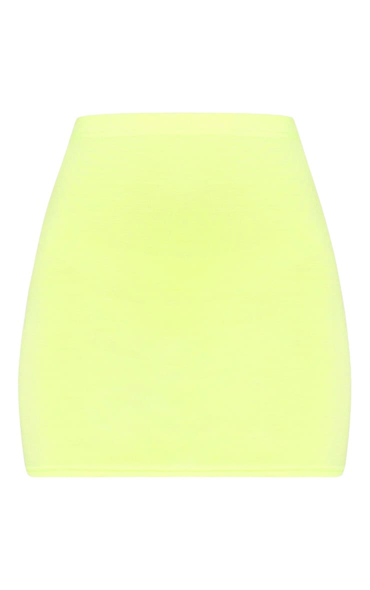 Basic Lime Jersey Mini Skirt 3