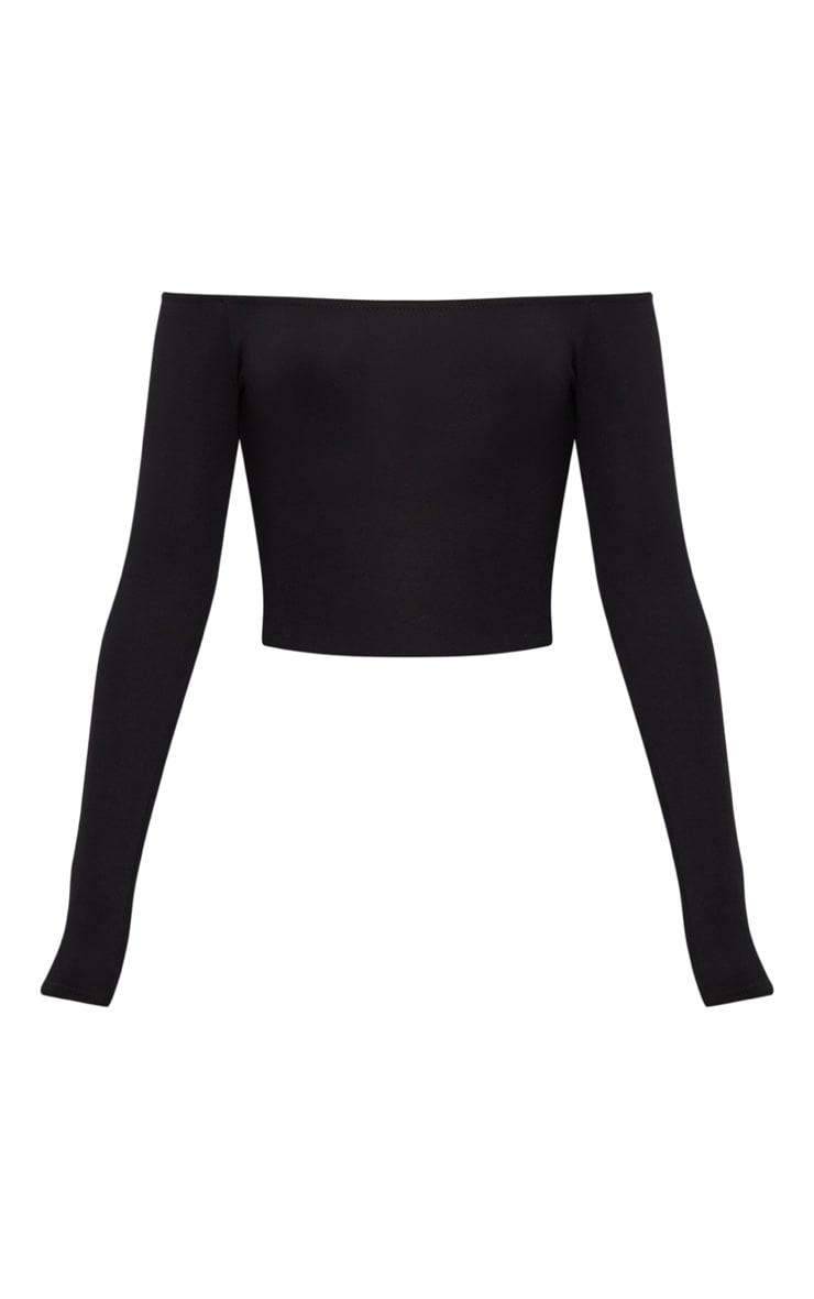 Miyana robe moulante bardot contrastée kaki 3