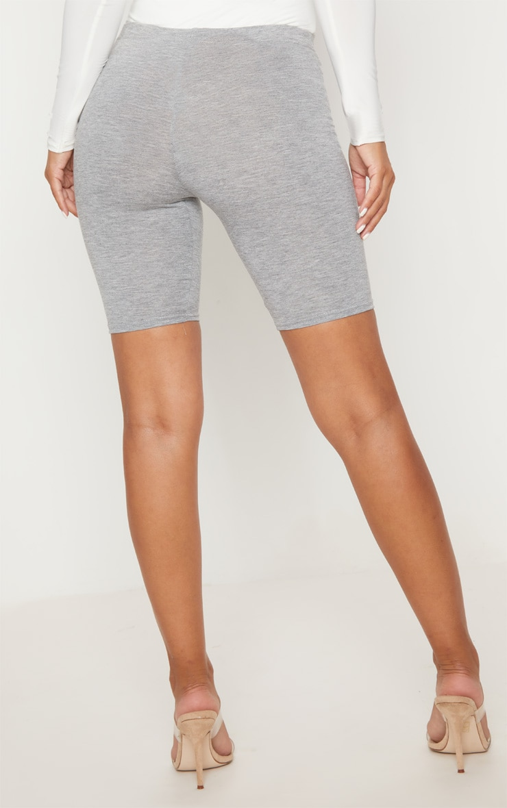 Petite Grey Marl Basic Bike Shorts 4
