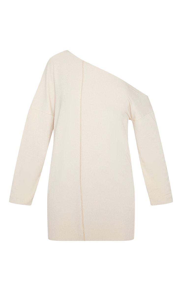 Off White Middle Seam Off The Shoulder Jumper Dress 3
