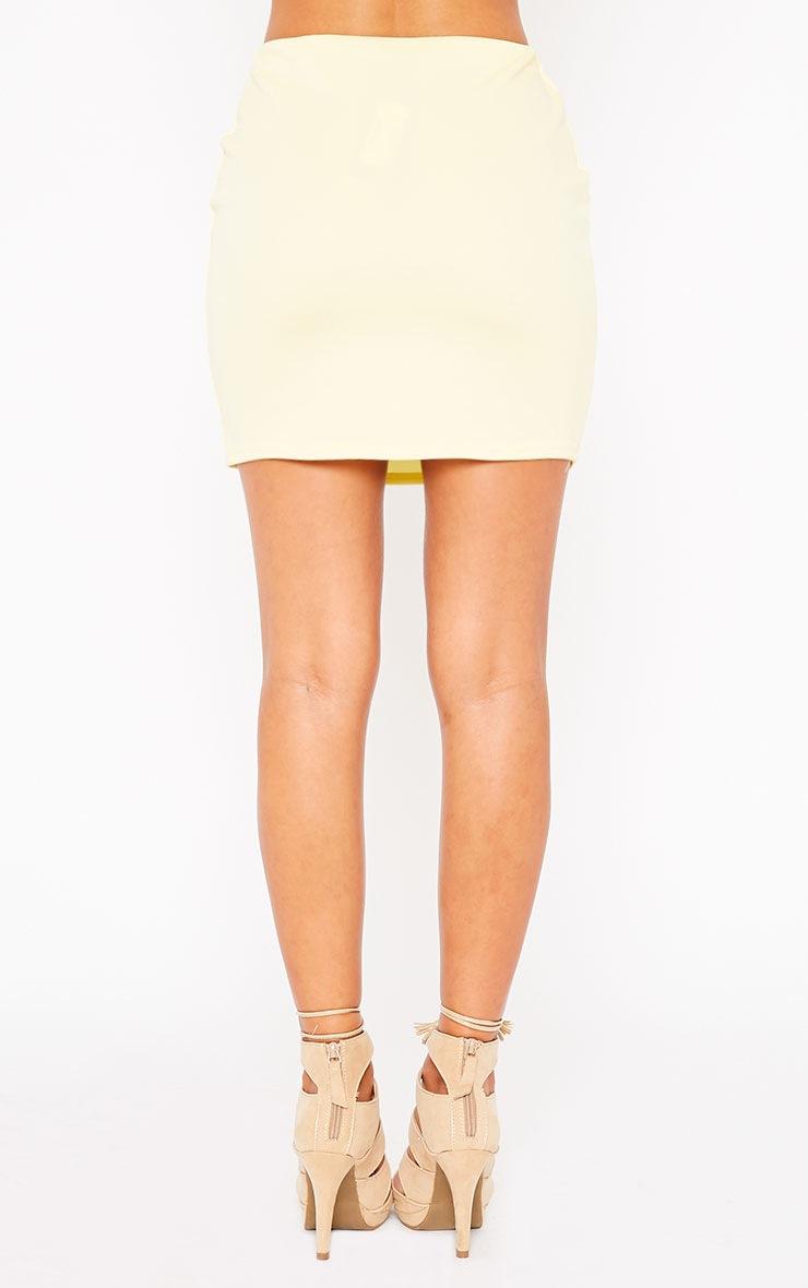 Basic Lemon Scuba Mini Skirt 2