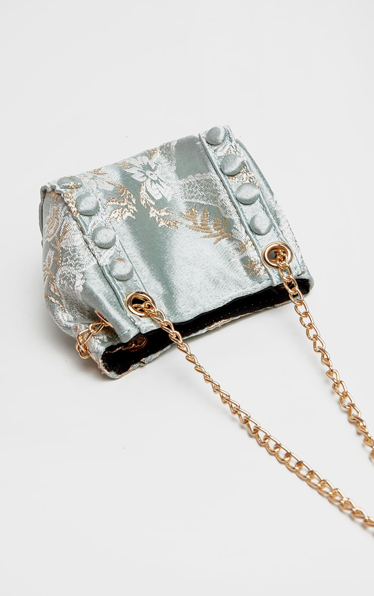 Sage Green Oriental Mini Bag 3