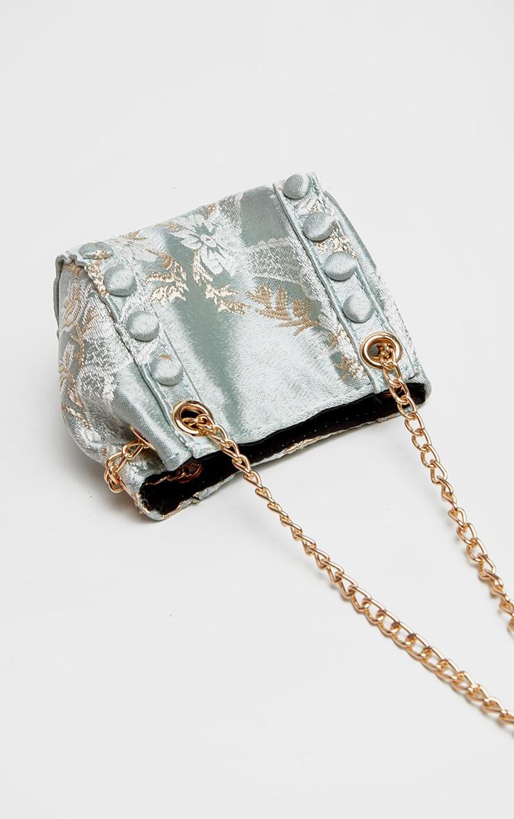Sage Green Intricate Print Mini Bag 3