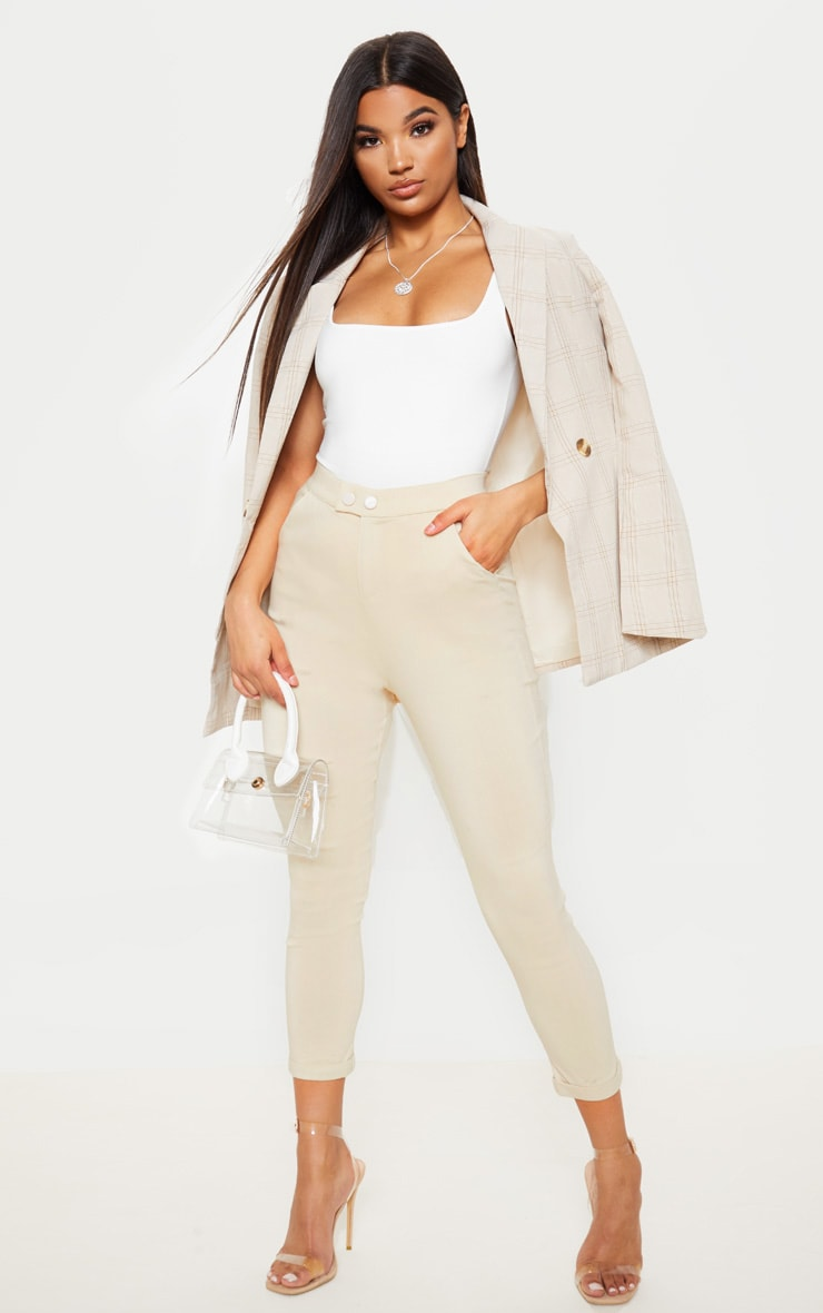 Simi Cream High Waisted Jeggings 1