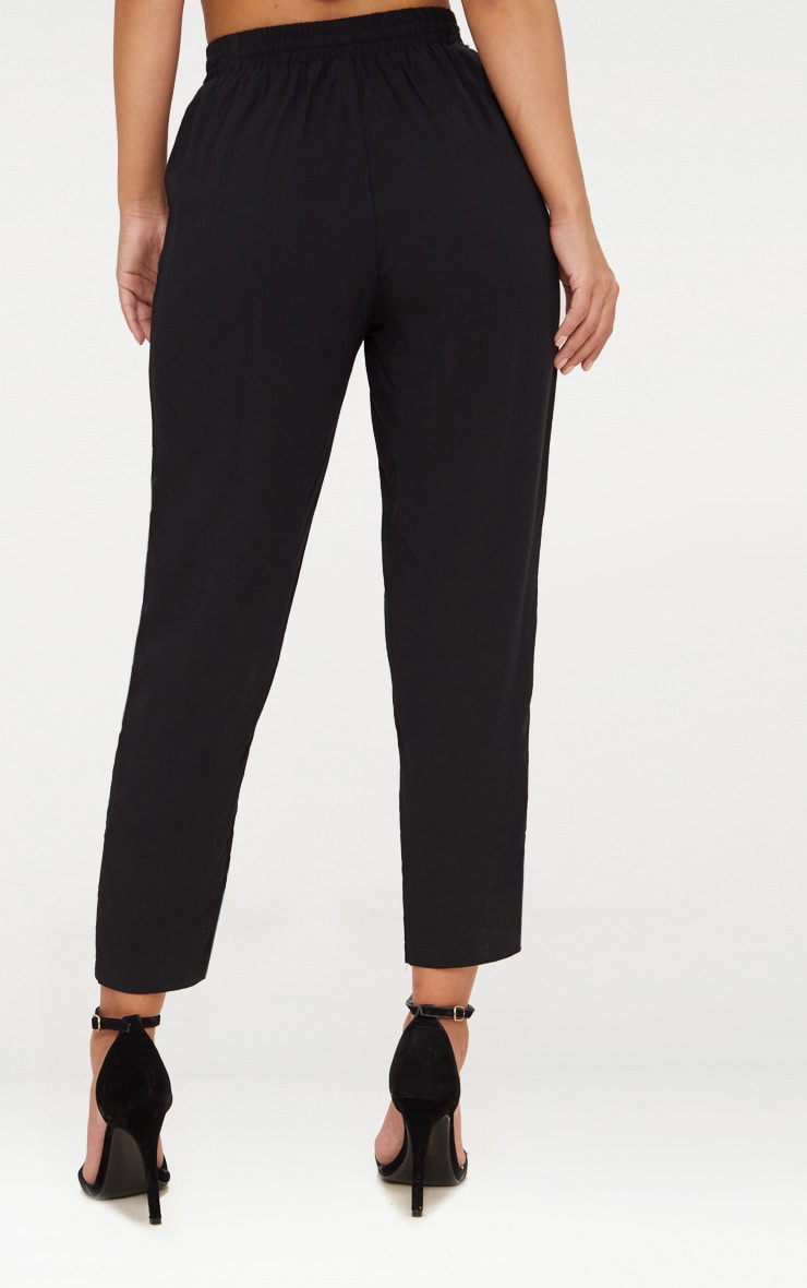 Petite Black Casual Trousers 4