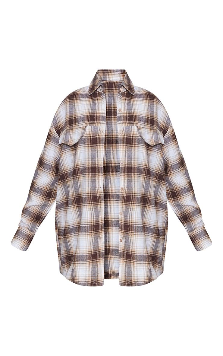 Petite Stone Checked Oversized Shirt 5