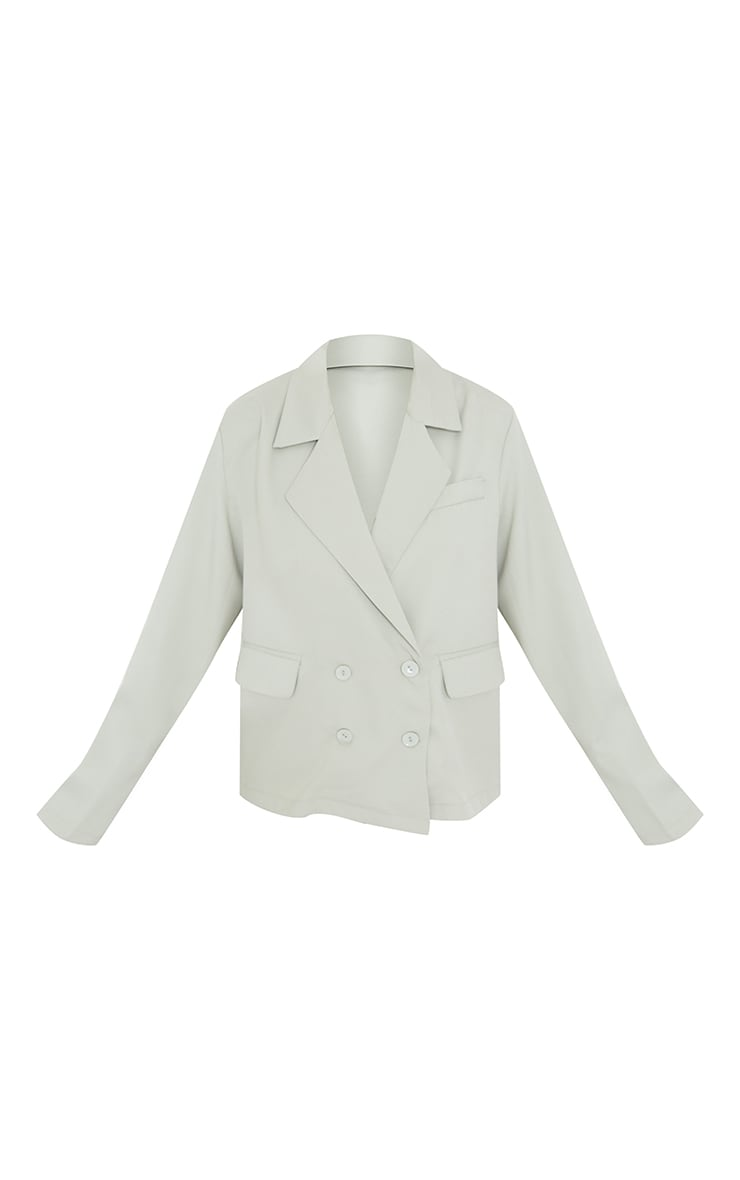 Petite Sage Green Double Breasted Blazer 5