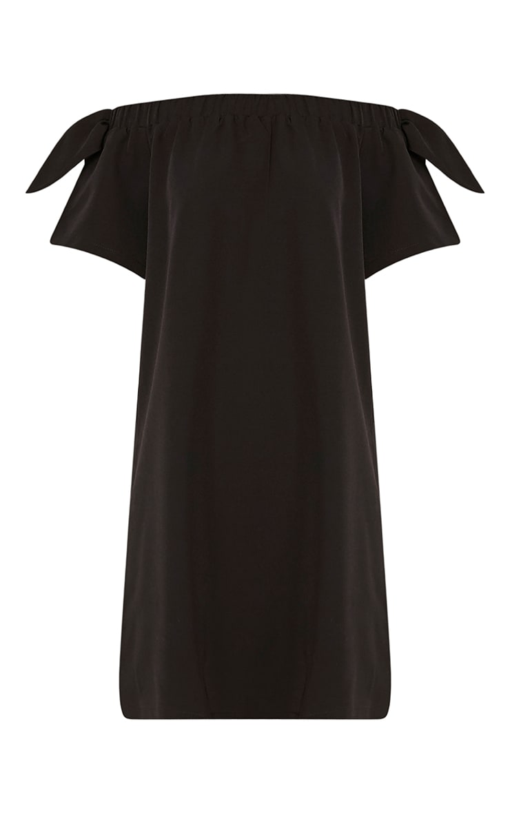 Cayla Black Crepe Bardot Swing Dress 3