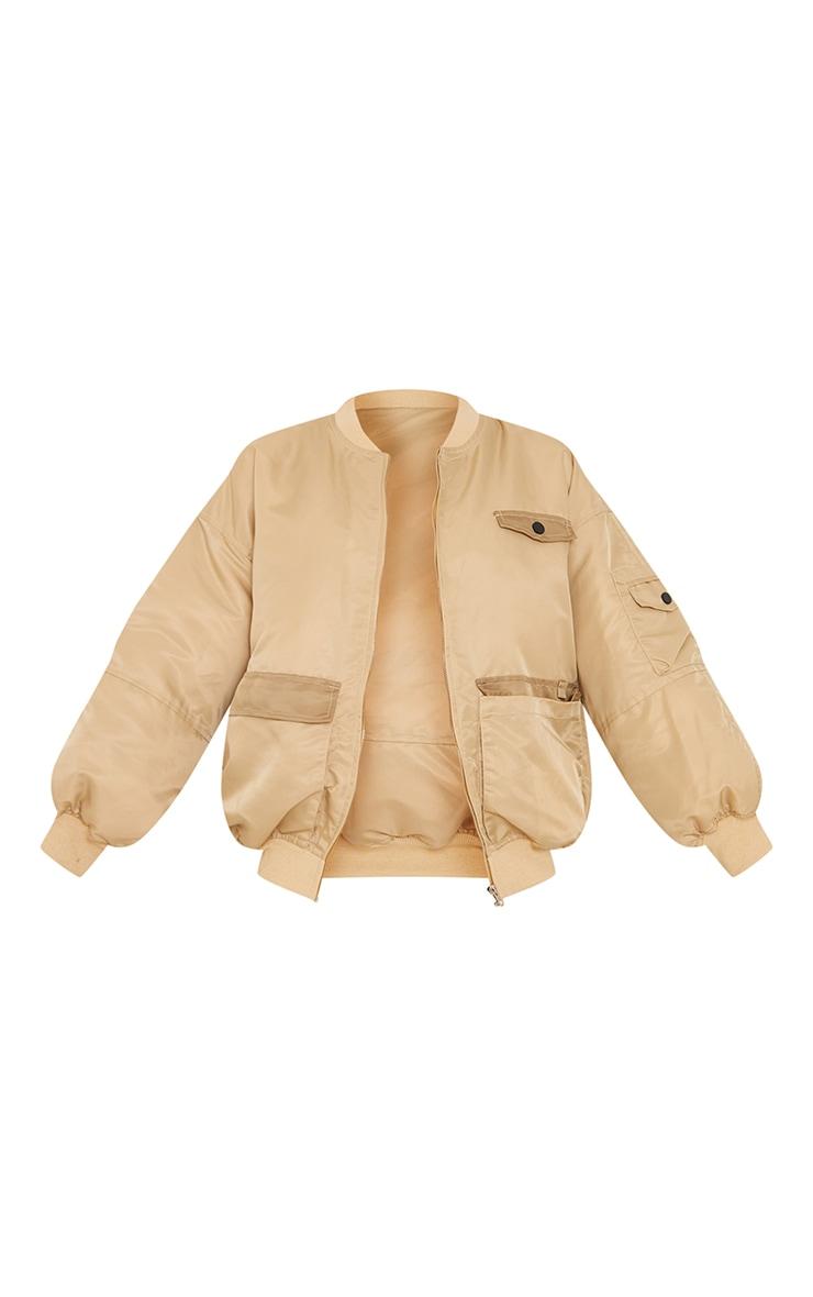 Stone Contrast Pocket Padded Nylon Jacket 5