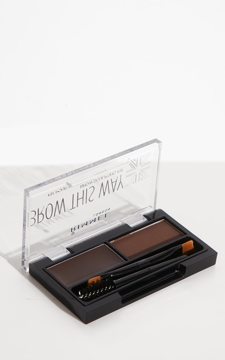 Rimmel Brow This Way Dark Brown Eyebrow Kit 2