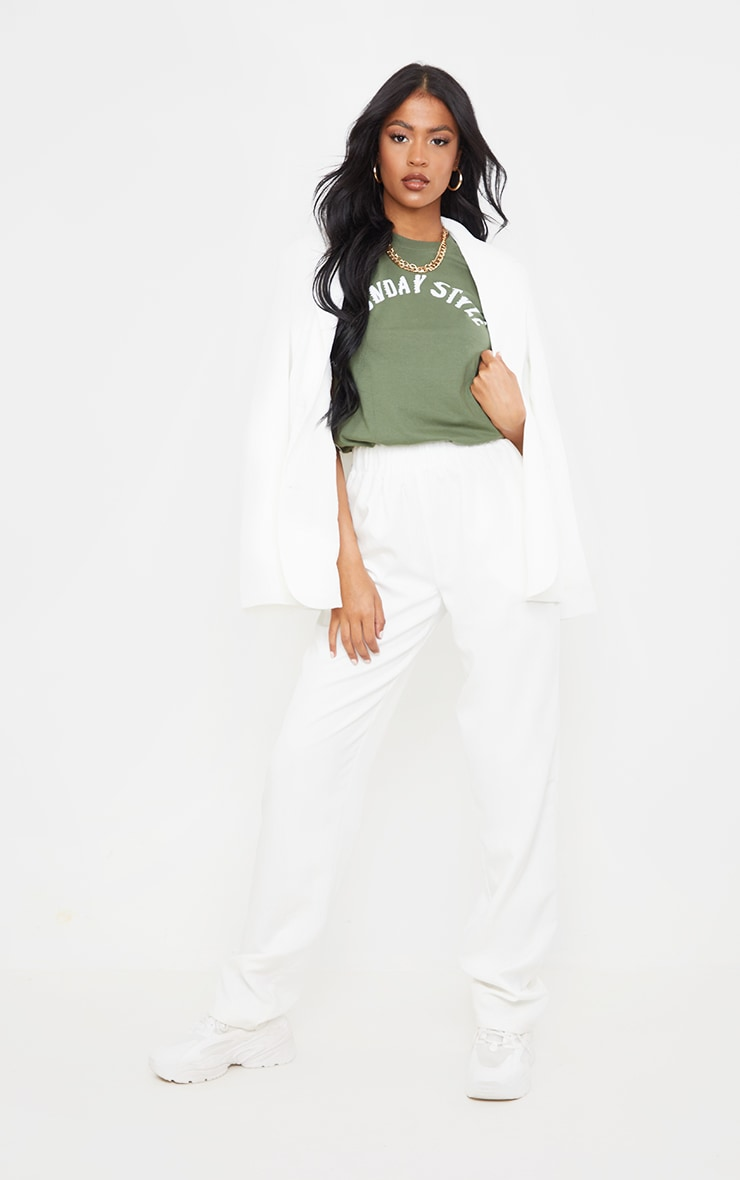 Tall Sage Green Sunday Style T Shirt 3