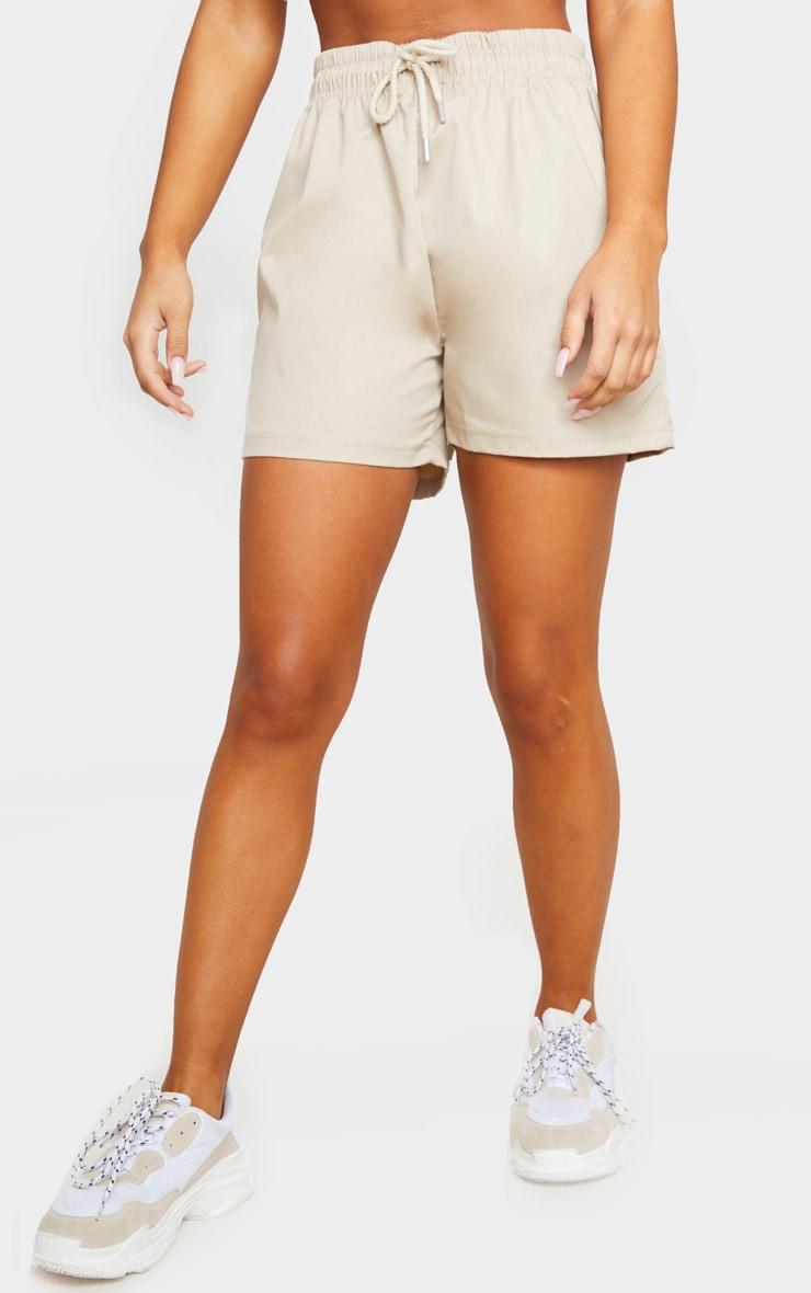 Stone Twill Drawstring Waist Shorts 2