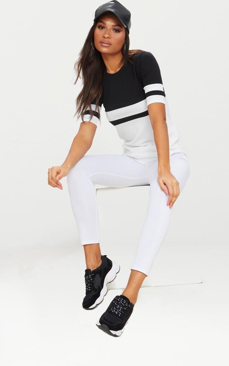 Monochrome Sports Stripe T Shirt  3