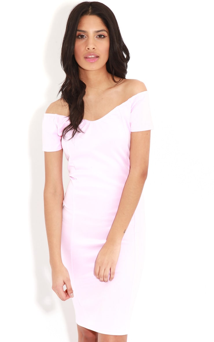 Sadia Pink Off The Shoulder Dress 1