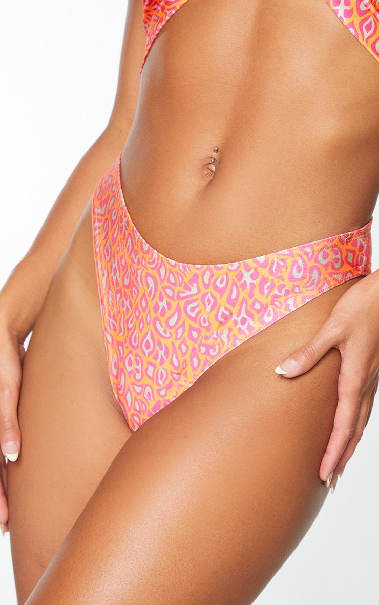 Multi Leopard High Rise Bikini Bottoms 4