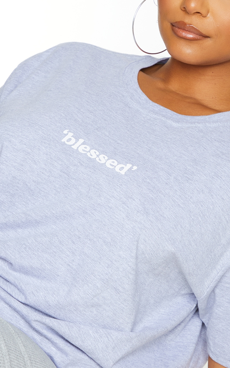 Plus Grey Blessed T Shirt 4