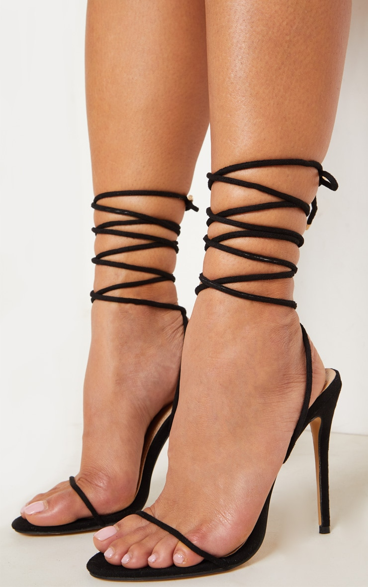 Black Strappy Sandal 2