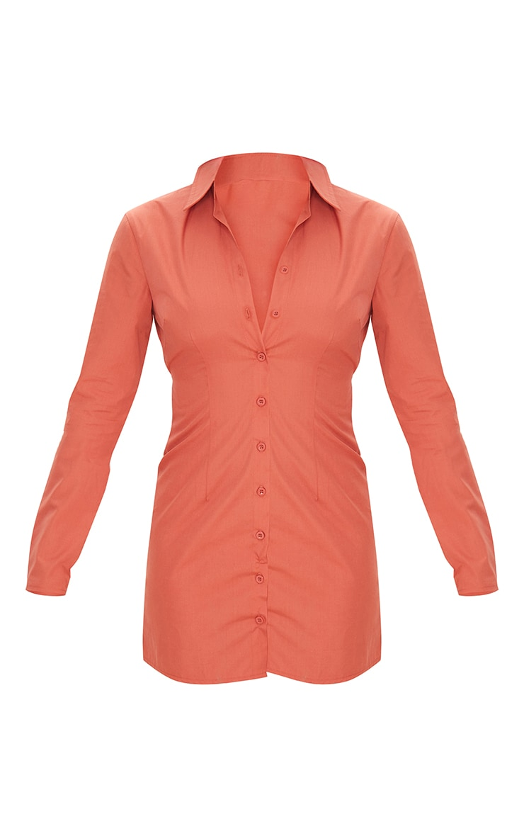 Clay Cut Out Tie Back Detail Shirt Dress 5