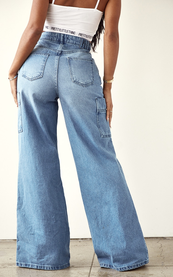 Shape Vintage Pocket Detail Wide Leg Jeans 3