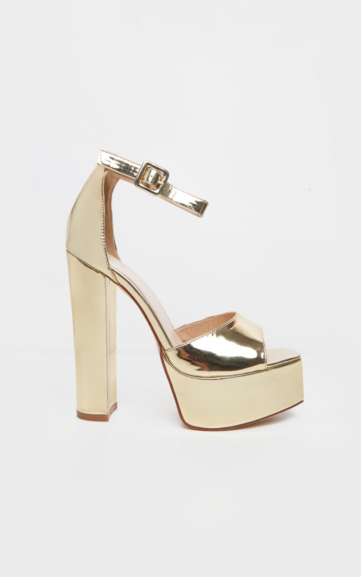 Gold Platform High Sandal 3