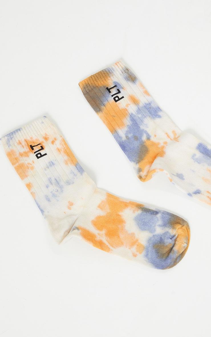 PRETTYLITTLETHING Orange Multi Tie Dye Socks 3