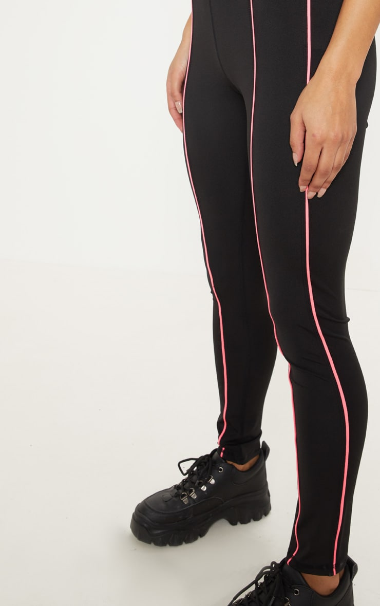 Black Contrast Piping Legging 5