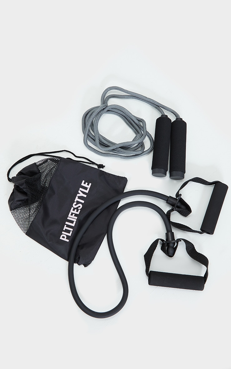 PRETTYLITTLETHING Black Sport Rope And Resistance Duo 1
