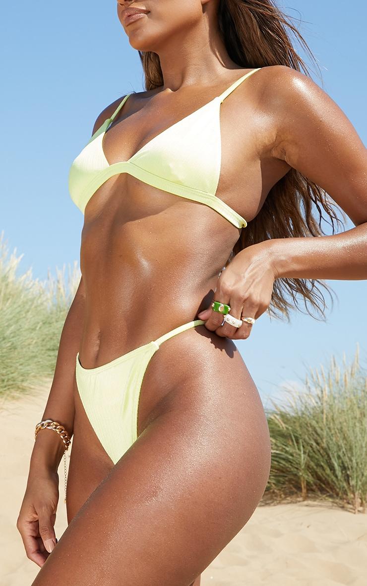 Lemon Shiny Thong Bikini Bottoms 2