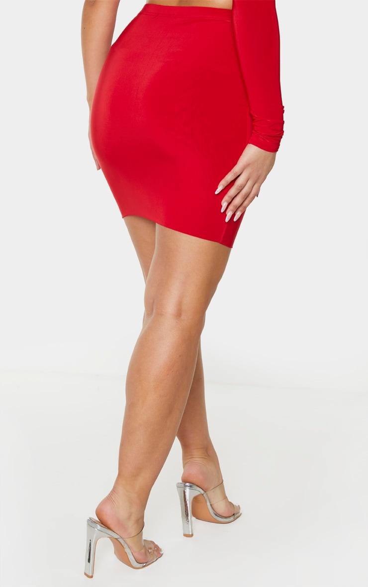 Red Slinky Mini Skirt 3