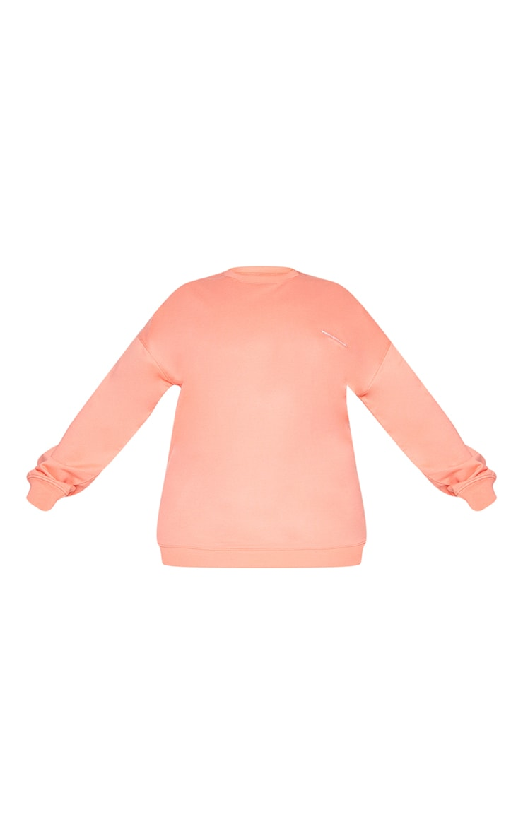 PRETTYLITTLETHING Plus Coral Oversized T Shirt 5