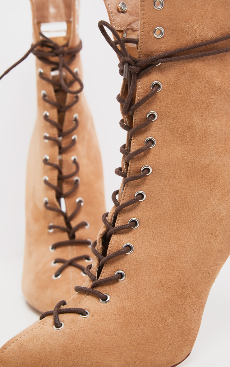 Sand Lace Up High Point Ankle Boot 3