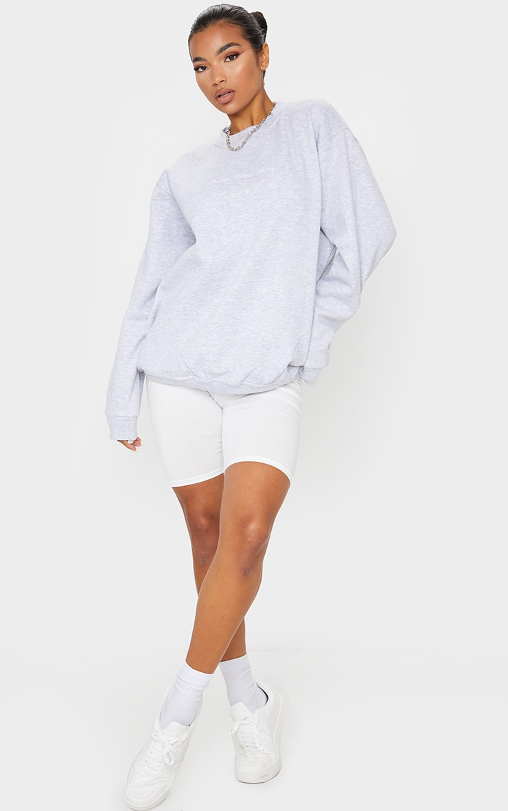 PRETTYLITTLETHING Grey Marl Oversized Sweater 3