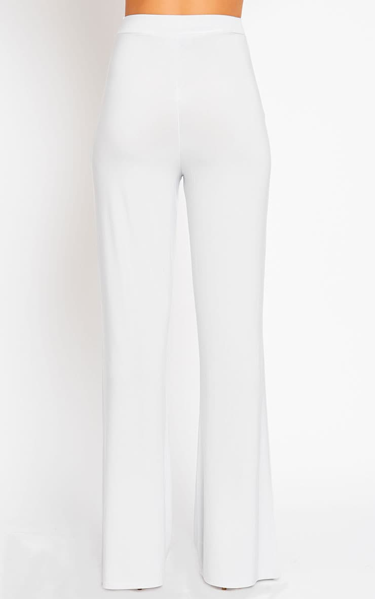 Remi Grey Soft Touch Wide Leg Trousers 4