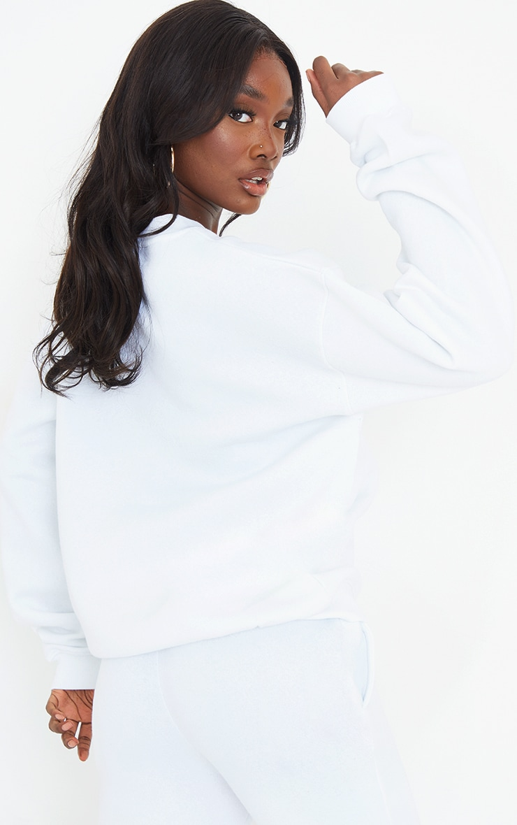 Tall White Ultimate Oversized Sweatshirt 2