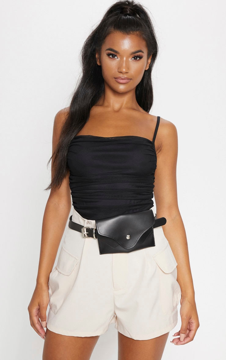 Black Envelope Belt Bag 1